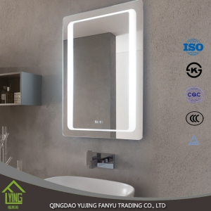2017 new design bathroom led silver mirror for makeup