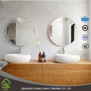 2mm-6mm silver coated float glass round mirror with polished edge for bathroom mirror or decorative wall