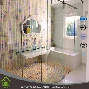 3mm - 19mm tempered glass building price for glass shower doors