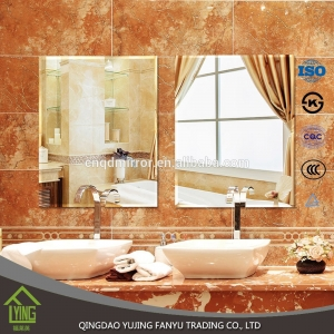 4mm frameless custom shape bathroom silver mirror
