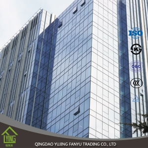 6mm 8mm 10mm Standard Size Clear Tempered Building Glass Tempered Glass for Residential Building