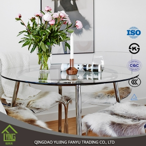 6mm 8mm 10mm dining-table tempered glass cost per square foot