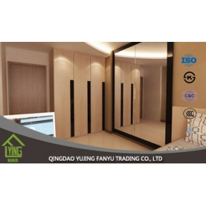 6mm fine edge polished large wall mirror