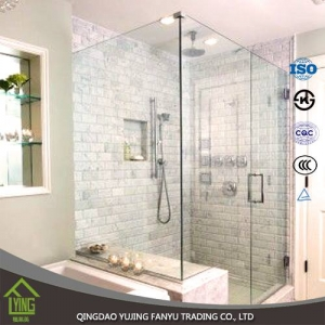 Best price safety glass, 3mm - 12mm clear tempered glass For Shower Door