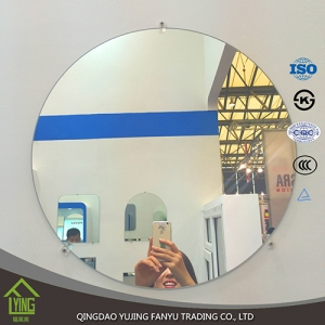 Cheap customized size oval wall mirror Decorative flat edge silver mirror