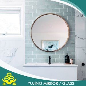 Cheap customized size oval wall mirror decorative flat for Large flat bathroom mirrors