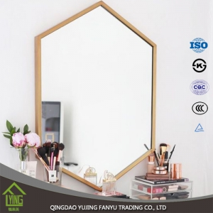 China factory modern 3mm clear bathroom wall mirror