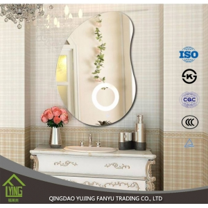 China mirrror factory custom size LED lighted wall mounted bathroom mirrors