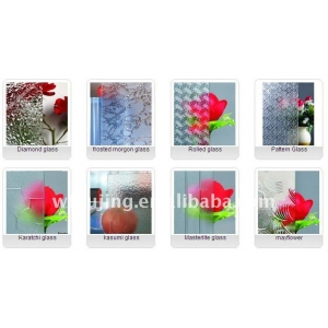 China patterned glass manufacturer with top quality