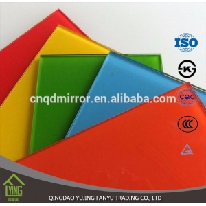 Colored Mirror/tinted sheet glass with custom shape for decoration