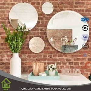 Decorative Usage, High quality decorative silver coated glass bathroom decor mirror wholesale