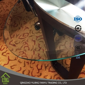 Desk-Top tempered glass / tempered glass for table top with CCC certificate