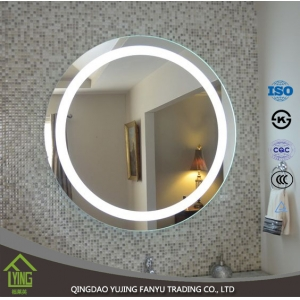 European - style modern home mirror furniture glass bathroom mirror with led light