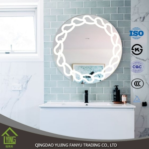 HOT SALE Clear beveled silver mirror with TUV ISO certificate for bathroom