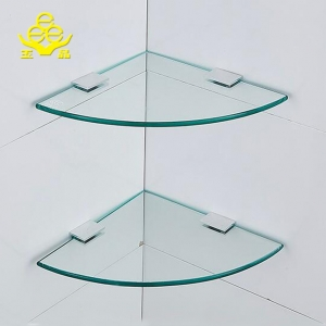 High quality 10mm tempered glass shelf with clips