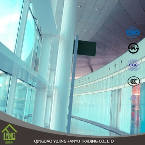 High quality flat clear 10mm tempered glass with CE from China glass manufacturer