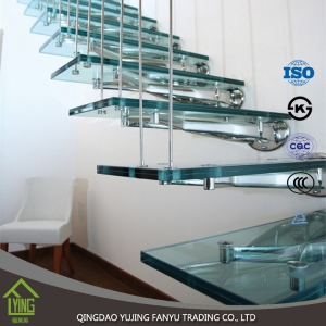 Hot sale 4 5 6 8 10 12 15 19mm thick tempered laminated balustrade glass / Building Construction