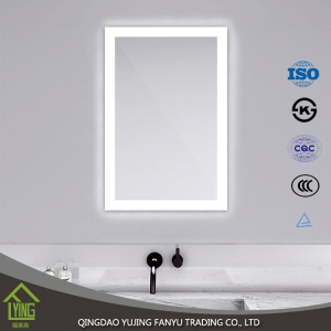 New design mirror with led light decorative bathroom mirror 3mm silver float glass