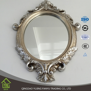 Polished edges aluminum mirror processed mirror standing mirror