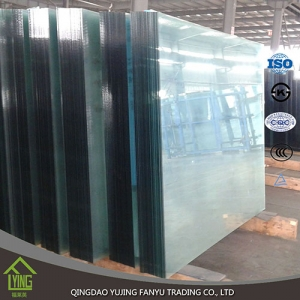 Shandong yujing best selling tempered glass for building glass
