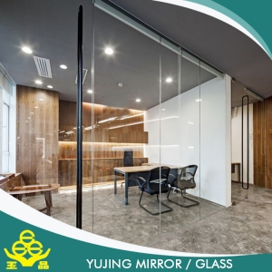 Solid structure and function clear tempered building glass with best price made in China