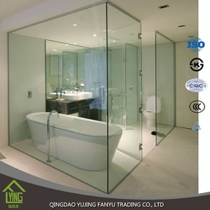 Top Quality 12mm clear tempered shower partition glass high quality glass