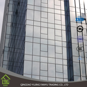 Top quality office building clear tempered glass price hot sale