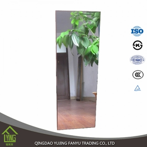 YUJING vinyl back safety environmental protection double coated silver mirror manufacturer