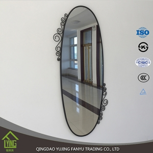 antique tin practical Bathroom Mirror in classical style silver mirror aluminum mirror