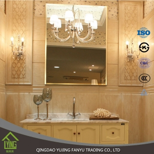 cheap clear 3mm 4mm 5mm decorative bathroom mirror wholesale in China