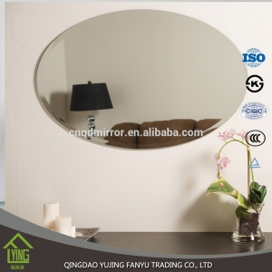 cosmetic Aluminum mirror/ float glass with polished edge for hotel
