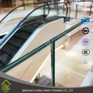 custom size safety glass tempered glass laminated glass manufacturer in China