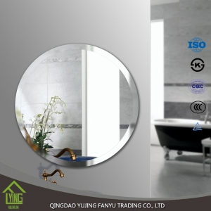 double coating Silver Mirror/sheet glass with round edge for cosmetic