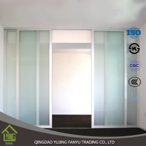 high quality 4mm 5mm 6mm 8mm frosted glass price, frosted glass office partitions