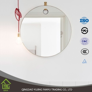 silver wall hanging mirror piece for bathroom