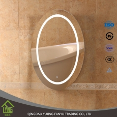 China LED bathroom mirror hotel backlit mirror factory