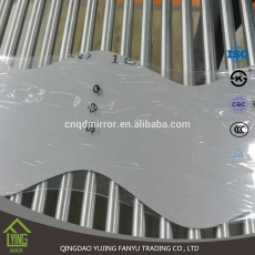 China 4mm deeply processing mirror wavy shaped mirror factory