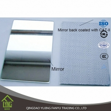 China Home usage 5mm silver mirror with safety backing film factory