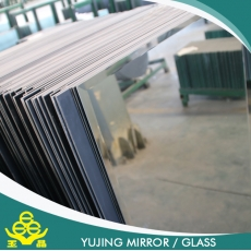China Beveled edge bathroom mirror with safe back film in different shapes factory