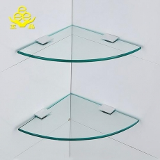 China High quality 10mm tempered glass shelf with clips factory