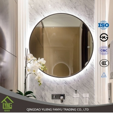 الصين مصنع Led back lighted mirror 3mm 4mm 5mm round and square shape