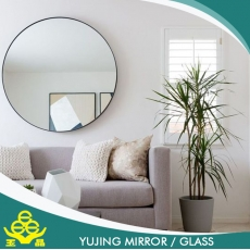 China silver round fashion mirror for wall/bathroom/hotel/home decoration factory
