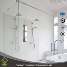 China clear tempered glass bathroom shower door glass factory
