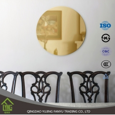 China decorative Colored Mirror glass 1.8/3/4/5/6/7mm thickness for home decoration fábrica