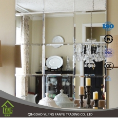 China high quality cheap frameless beveled mirror wholesale fábrica