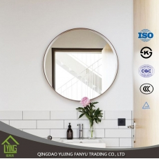 China hot sell round mirrors for bathroom with beveled edge factory