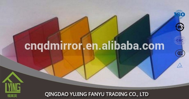 1.8mm grey Colored decorative Mirror/ tinted sheet glass price ...
