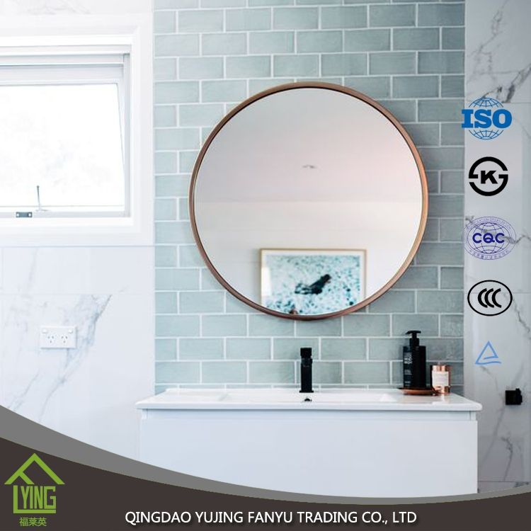 2mm 12mm Silver Coated Float Glass Round Mirror With Polished Edge