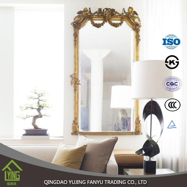 2mm 3mm 4mm 5mm 6mm decorative frameless silver mirror for home