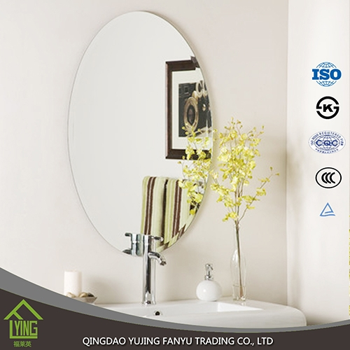 Model Of 3mm 4mm 5mm frameless bathroom mirror oval shape Unique - Review flat bathroom mirror Photos